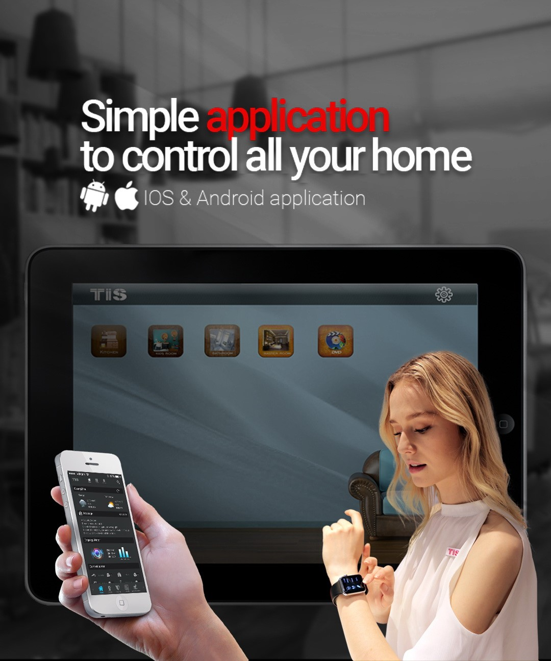 Control your smart home – by TIS apple watch application