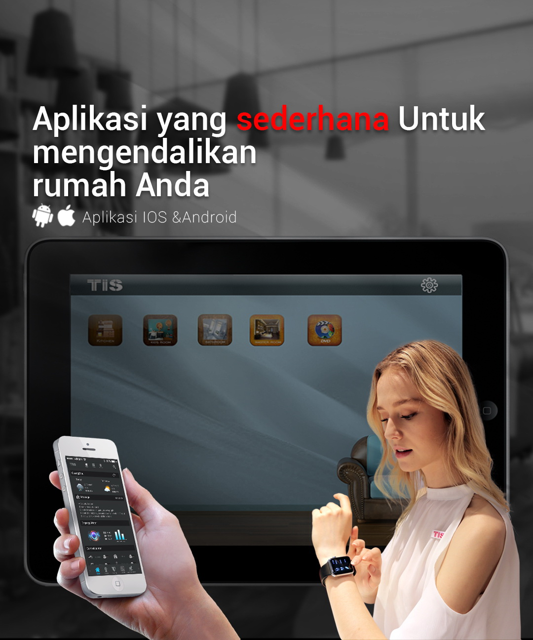 Kendalikan Rumah Pintar Anda –TIS Apple watch application